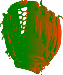 Green And Orange Glove Clip Art