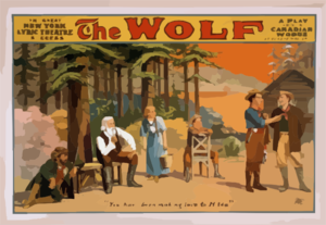 The Wolf A Play Of The Canadian Woods By Eugene Walter. Clip Art