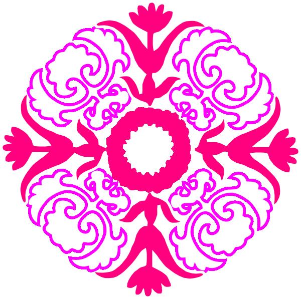 damask flourish pink orange clip art at clker com vector clip art rh clker com  damask print clip art free
