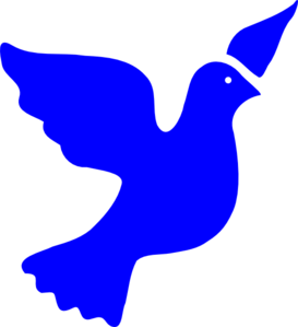 Blue Peace Dove Clip Art