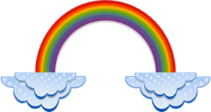 Rainbow And Clouds Clip Art
