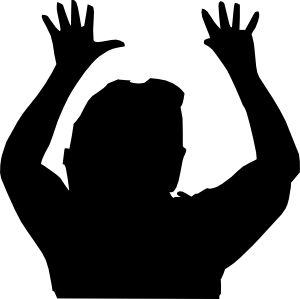 Raising Hands Silhouette Clip Art