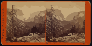 The Yosemite Valley, From The Mariposa Trail, Yosemite Valley, Mariposa County, Cal. Clip Art