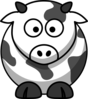 Cartoon Cow Outline Clip Art