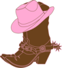 Lighter Brown Cowgirl Boots Clip Art