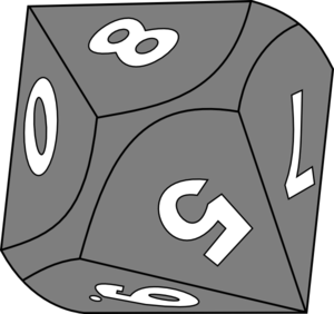 10 Sided Die Clip Art