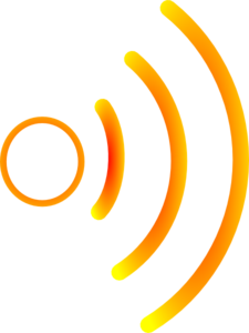 Radio Waves Yellow 2 Clip Art