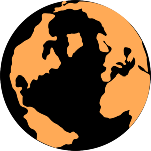 Orange And Black Globe 2 Clip Art