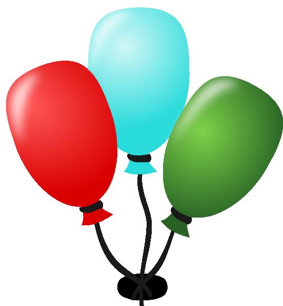 Balloons Clip Art at Clker.com - vector clip art online, royalty free ...