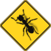 Ant Sign Danger Clip Art
