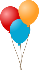 Three Balloons  Clip Art