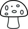 Black And White Mushroom Clip Art