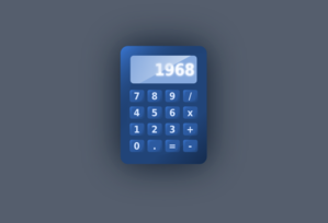 Blue Calculator Clip Art