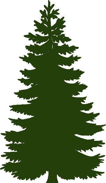 Dark Green Pine Tree Clip Art At Clker Com Vector Clip