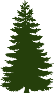 Dark Green Pine Tree Clip Art