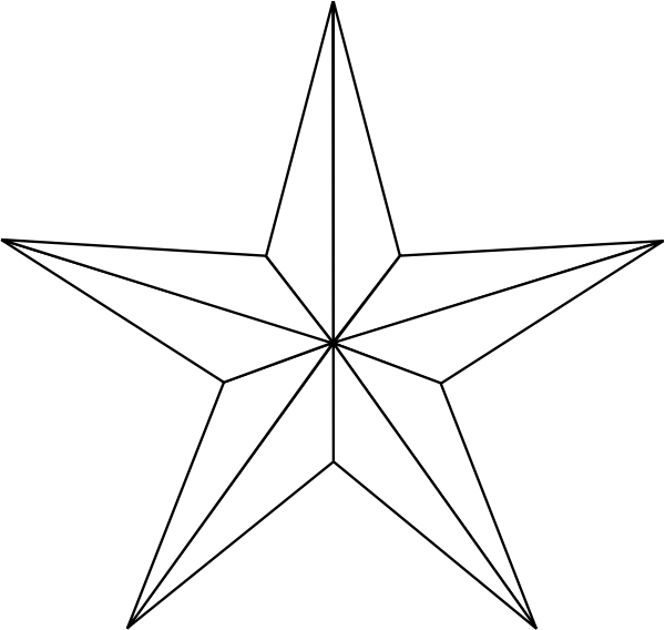 black and white star clip art - photo #22