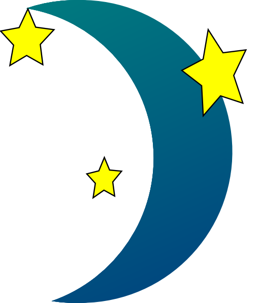 Crescent Moon N Stars Clip Art at Clker.com - vector clip ...