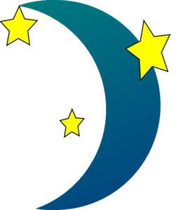 Nighttime Moon And Stars