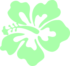 Hibiscus Mint Green Clip Art