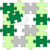 Green Jigsaw Puzzle Bigger Clip Art