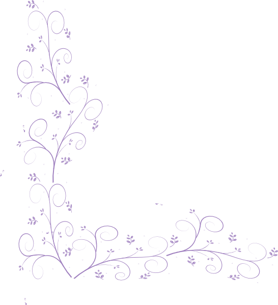 Purple Floral Corner Embellishment clip art