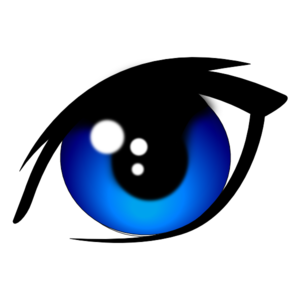 Blue Vector Eye Clip Art