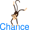 Monkey With Name Chance Clip Art