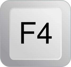 F4 Keyboard Button Clip Art