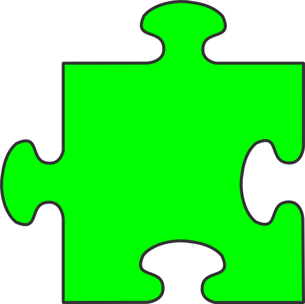 green puzzle piece clip art at clkercom vector clip art