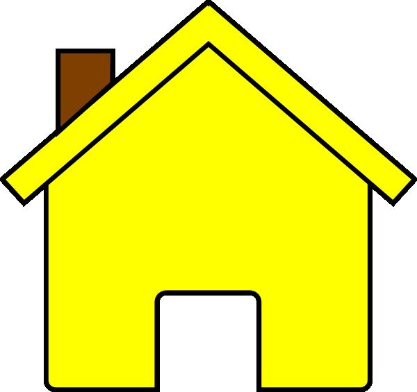 Yellow House Clip Art At Clker Com Vector Clip Art