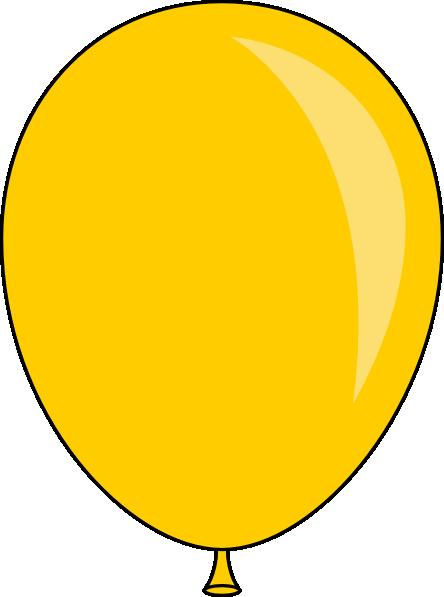 new yellow balloon clip art at clker com vector clip art online rh clker com balloon clipart no background balloon clipart no background