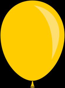 New Yellow Balloon Clip Art At Clker Com Vector Clip Art Online Royalty Free Public Domain