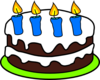 Cake 4 Candles Last Version Clip Art