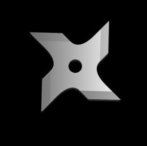 Ninja Star Clip Art at Clker.com - vector clip art online ...