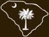 State Of Sc With Brown Background Clip Art