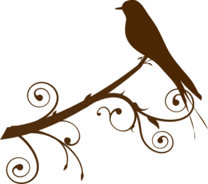 Bird On A Branch Clip Art