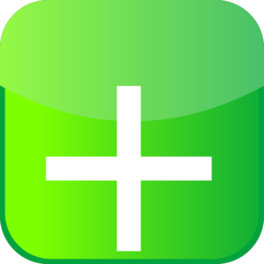 Plus Icon Green Iphone Clip Art