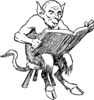Demon Reading Book Clip Art