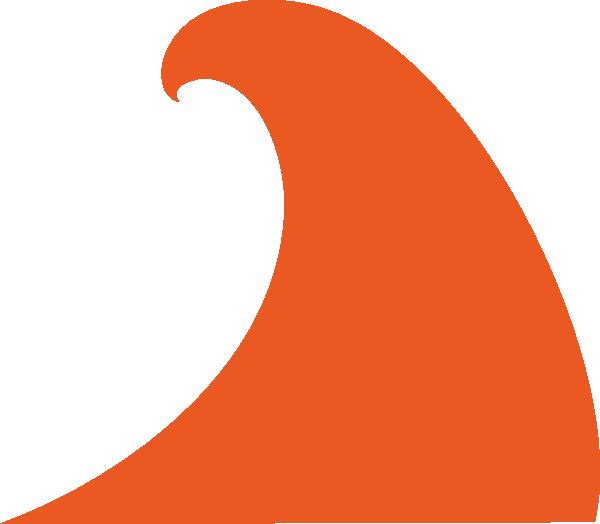 oranger wave clip art at clker com vector clip art online royalty rh clker com Red Banner Clip Art Red Wave Background