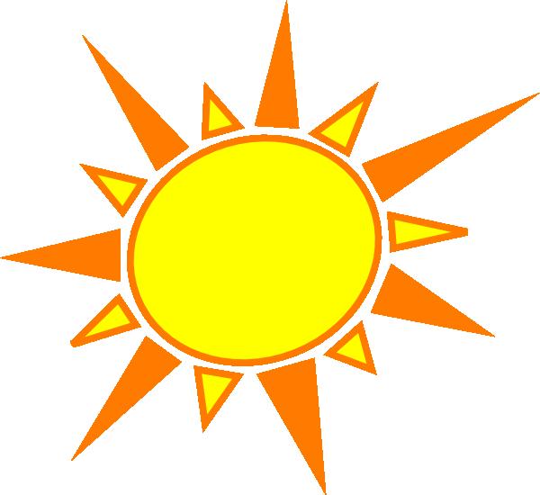 Yellow And Orange Sun Clip Art at Clker.com - vector clip ...