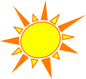 Yellow And Orange Sun Clip Art