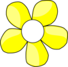 Yellow And White Daisy Clip Art