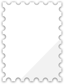 Blank Postage Stamp Template Dedicated To Susi Tekunan By R.d. Miccahofman Clip Art
