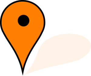 Orange Google Maps Pin Clip Art