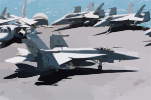 An F/a-18c Hornet Assigned To The Eagles Of Strike Fighter Squadron One One Five (vfa 115) Taxies To One Of Four Catapults Clip Art