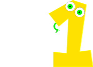 Number One Yellow Clip Art