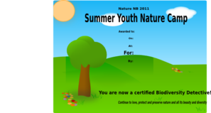 Nature Camp Award! Clip Art