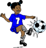 Girl Playing Footy Clip Art