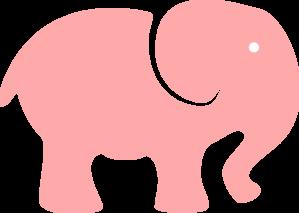 Pink Elephant Mom - White Eye Clip Art at Clker.com ...