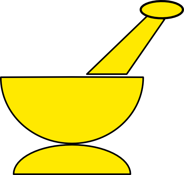 Mortar And Pestle Clip Art At Clker Com Vector Clip Art